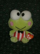 "Ty Beanie ~ KEROPPI From HELLO KITTY ~ DOB:July 10 ~ 6"" tall ~ MWMT~ Retired"