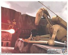 Official Pix 8x10 Photo Battle Droid Matthew Wood Star Wars Celebration VI