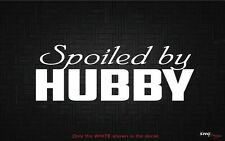 Spoiled by HUBBY girly girl hello kitty Car Decal Sticker VW BMW Mercedes Audi
