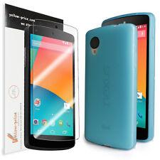 LG Google Nexus 5 [Blue] Ultra Fit Flexible TPU Case / Clear Screen Protector