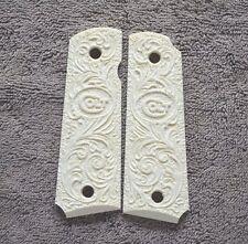 #179 For 1911 Kimber/Colt Frames Carved Colt Logo & Scroll Design!