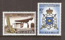 BELGIUM # B-808-9 MNH COLONIAL BROTHERHOOD EMBLEM