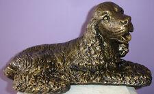 Cocker Spaniel King Charles Dog Canine Doorstop Bronze Color