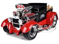 "1929 FORD MODEL AA PICKUP MATT BLACK/RED ""MUSCLE MACHINES"" 1/18 CAR MAISTO 32201"