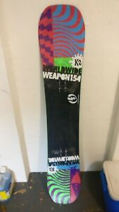 2014 K2 World Wide Weapon 154cm Snowboard straight/flat camber