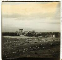 LIBAN Baalbek Archéologie Photo Stereo Plaque de Verre VR2L8n1