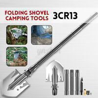 Multifunctional Spade Folding Shovel Camping Tools w/ Bag Pipe Attack Cone Whist