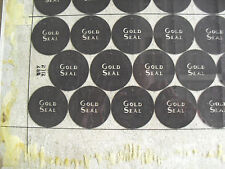 Rare 1950s Glass Gold Seal Gin Bottle Cap Factory Printing Plate