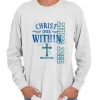 Christ Within Holy Spirit Christian Religious Long Sleeve Tshirt Tee for Women