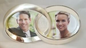 NEW THINGS REMEMBERED Silver Double Rings Wedding Picture Frame