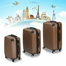 Set of 3 Luggage Hard Shell Lightweight Spinner 4 Wheel Travel Suitcases FY