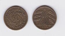 50 Rentenpfennig Messing Münze Weimarer Republik 1924 E Jäger 310 (119373)