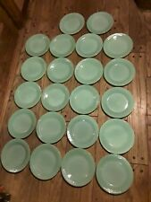 22 Fire King Jadeite  9 Inch Plates In Excellent Condition