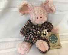 "Boyds Bears *Kaitlin McSwine Iii*, 8"" Plush Pig, with Tags, Retired Plush Pig."