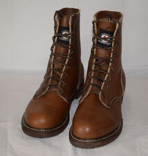 Carolina Brown Leather Boots UK7.5 Made in USA