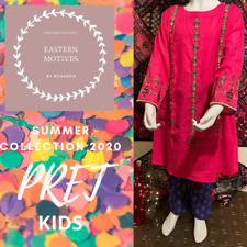 Kids Girls Pakistani Indian Designer Inspired Kurta Readymade 7-14