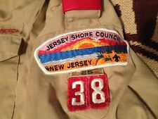 VTG 1995 MADE IN USA JERSEY SHORE COUNCIL 38 SHORT SLEEVE SHIRT YOUTH 14-16 L