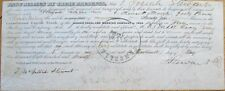 1860 Stock Transfer Certificate: 'Morris Canal & Banking Company of 1844'