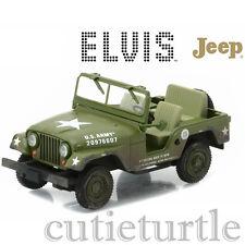 Greenlight Elvis Presley 1963 US Army Jeep Willy's Cold War ERA CJ-5 1:43 86311