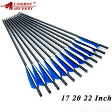 """12PCS 20""""Carbon Arrow Crossbow Vane Point Target Archery Crossbow Bow Hunting"""