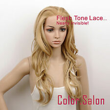 Hand-Tied Flesh Lace Front Synthetic Wigs Glueless Mixed Blonde 92#234F613(F)