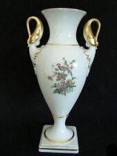 Prunkvase Schwanenhals-Vase AK Kaiser Blütenzauber Goldrand Gold