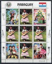 PARAGUAY 1985 Weihnachten Trachten Musik 3833 Kleinbogen ** MNH
