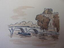 8/ AQUARELLE PARIS / Le pont Royal et le Louvre