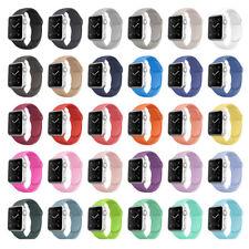Apple Watch Armband Armbänder Silikon Gummi 38 40 42 44mm | Series 6 5 4 3 2 1
