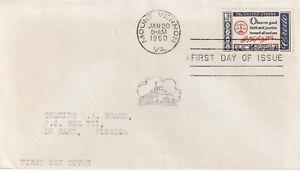 1960 USA FDC cover G.Washington send from Mount Vernon