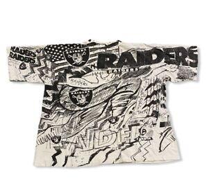 Oakland Raiders Magic Johnson T's Vintage 90's T-Shirt Men's sz XL NFL Football
