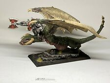Warhammer Orcs and Goblins - Orc Warboss on Wyvern - Finecast