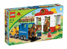 LEGO Duplo 5648 Pferdestall # Ponyhof Reitstall Pferdeanhänger Pferd NEU OVP