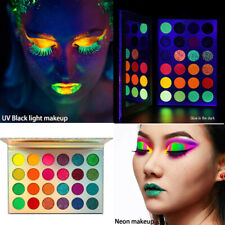 Neon 35Colour Eyeshadow Palette Glitter-Matte Glow In Dark Makeup HalloweenParty
