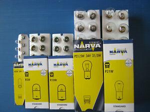 50 x LKW Autolampe 24 Volt, 10x W5W  10x R5W,  10x R10W,  10x P21W,  10x P21/5W