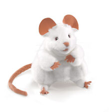 NEW Plush Soft Toy Folkmanis 2219 White Mouse Hand Puppet