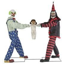 Clown Tug of War Prop Animated Halloween Animatronic Lifesize Circus