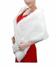 NEW APTRO Womens Faux Fur Warm Dress Stole Shawl for Winter Weddings Style 1
