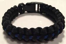 Thin Blue Line, Paracord Police Bracelet, TBL, Law Enforcement