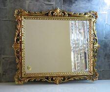 Wandspiegel Gold Antik Ornamente Barockspiegel 43x37 Friseurspiegel Flurspiegel