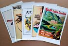 Lot of 5 Assorted Canvas Prints Travel Food Art Vintage Poster Retro Style (CS6A