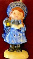 "ADORABLE Vintage 1982 AMERICAN Ceramic Christmas Caroler Girl FIGURINE-5.5"" TALL"