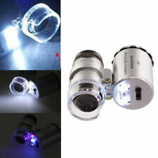 New 60x Handheld Mini Pocket Microscope Loupe Jeweler Magnifier With LED Lights