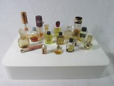 17 Mixed Small Vintage Bottles Perfume Cologne Don Loper Jordan Black Satin +++