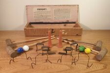 Vintage, Miniature Croquet Set, Original Box, Toy Set,