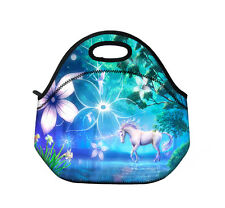 Unicorn Compartment Insulated Lunch Bag Cooler Lunch Box Tote School Work Picnic