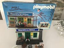 Cabane / Bureau / Prison du Sherif office- Playmobil system - Geobra de 1976