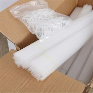 5Pcs White Balloon Sticks Plastic Holder with Cup Accessory Wedding Party Decor
