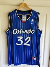 NWT Shaquille Shaq O'neal Orlando Magic Blue Throwback Jersey XL SEWN