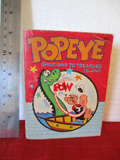 POPEYE GHOST SHIP TO TREASURE ISLAND mini thick SC 1967 vintage collectable